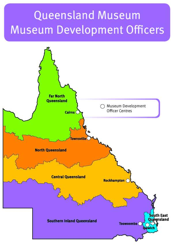 Map of Queensland showing MDO regions
