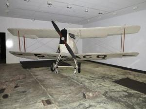 "Hinklers ""Avro Baby"" in the exhibition space following the removal of carpet."