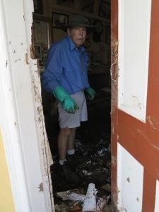 Eddie cleaning