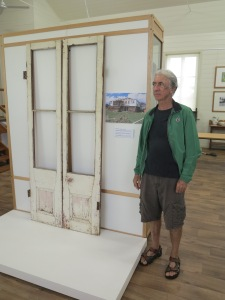 Murray Massey with his verandah doors.