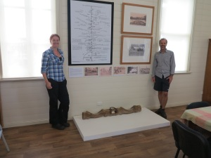 Dr Jo Wills and Ewen McPhee adjacent to the Kirrama Range display