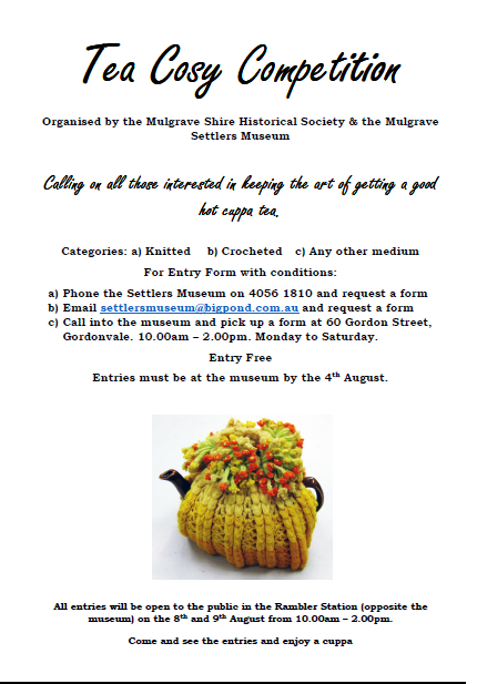 Tea Cosy Competition Flyer