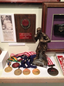 Cherbourg boxer, James Stanley's trophies.