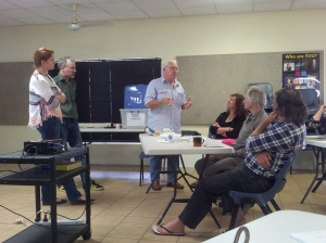 Noel Weare from the Douglas Shire Historical Society presents his object to the Heritage North Workshop. Photo: Robyn Smith, Cairns Museum.