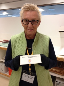 Sue from the Kirra Hill Heritage Group get the all clear!