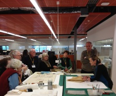 Heritage Voice members and Rachel Spano at the SLQ Conservation Lab