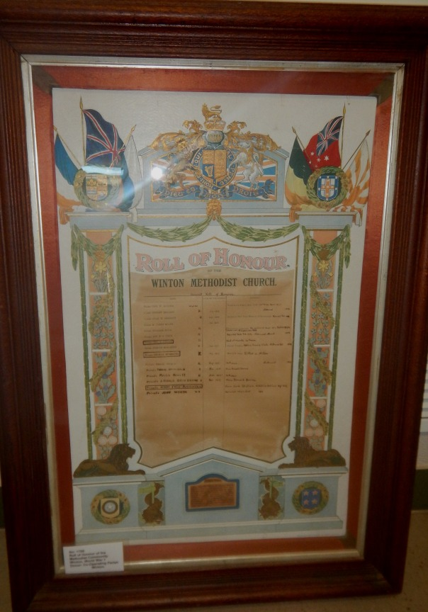 Roll of Honour of the Methodist Community, Winton.