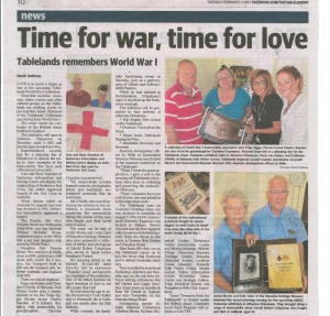 Tablelander Article Anzac Treasures Workshop Jan 2015
