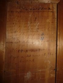 Mrs Langenbaker's wardrobe door