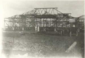 Greenmount under construction in 1915.