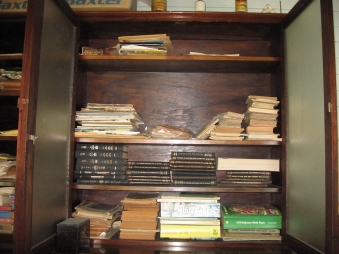 Office bookcase at Greenmount Homestead