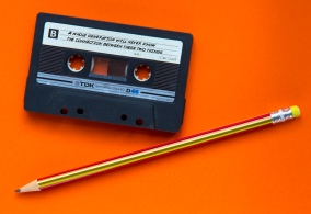 "Remember the connection between a pencil and cassette tape? Chances are a younger audience won't. Interpetation and labels share the important stories. ""[you need to read what is on the cassette]"" image courtesy RHiNO Neal (via Flickr)"