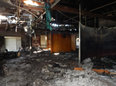 Waltzing Matilda Centre following the fire in June 2015