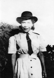 Mary Geary in her Land Army uniform, c. 1943. Ruth James & Geary family collection