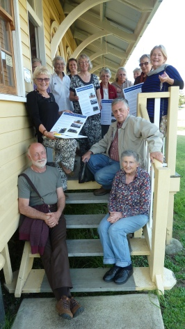 Volunteers from The Rathdowney Museum, Museum of Australian Military Intelligence, Templin Museum, Beaudesert Historical Society, Tamborine Mountain Historical Village with their finished interpretative panel exercise.