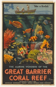 The Marine Wonders of the Great Barrier Reef, Tourism Poster, Percy Trompf, 1933. National Library of Australia.