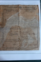 Private Walter Spearritt, Certificate of Discharge. James Cook Museum.