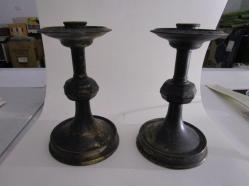 Candlesticks after fire