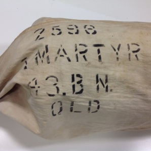 Martyr kit bag after conservation treatment. (Image supplied by Tess Evans)