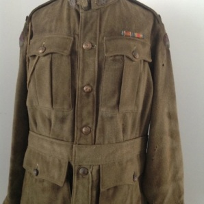Martyr uniform tunic after conservation treatment. (Image supplied by Tess Evans)