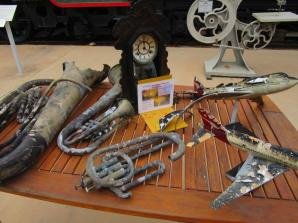 Fire damaged objects on display for visitors
