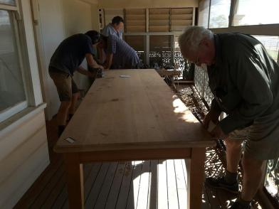 Conservation of reading room table nearing completion