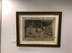 The damaged Tom Roberts print from Greenmount Homestead