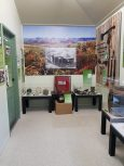 New display - view of Palmer River Goldfields and mine within. Image courtesy: Bev Shay, Cooktown History Centre