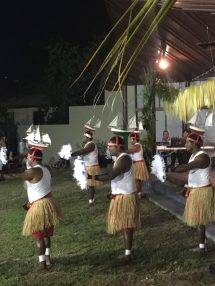 Badu Island Dance Group performing lugger dance at the opening