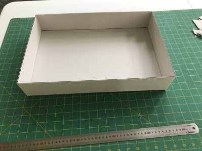 First a box that would fit the available display space had to be made.
