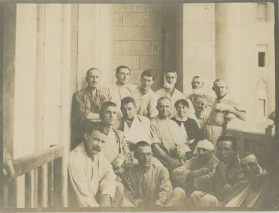 Kilburnie Homestead has a particularly rich military collection due to a number of the family having served in both world wars. Sister Beryl Campbell served at Heliopolis and Selonica, and documented her experiences in diaries and photographs. This image, taken by Beryl, shows wounded men recently evacuated from the Dardanelles.