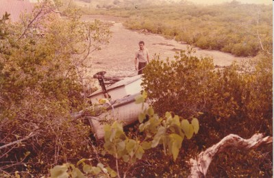 'Eleanor' abandoned in Eimeo Creek, c.1987. Images courtesy of Mackay Museum.