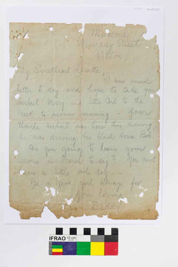 "Undated letter from Zoeller to ""My Sweetheart Lisette"" (H48835"