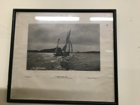 Photograph of 'Endeavour' which visited the island in April 1932, presented to their host Gower Wilson