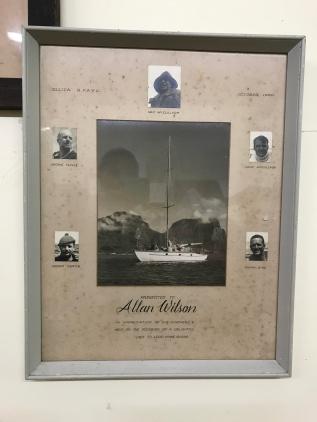 Image of 'Ellida', presented to Allan Wilson in 1960
